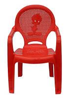 Пластиковое кресло детское Утенок красный