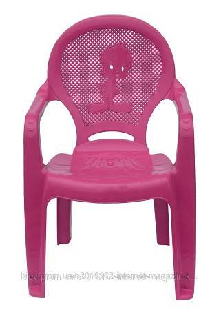 Пластиковое кресло детское Утенок розовый