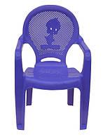 Пластиковое кресло детское Утенок фиолетовый