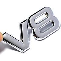 3D эмблема V8 на решетку радиатора