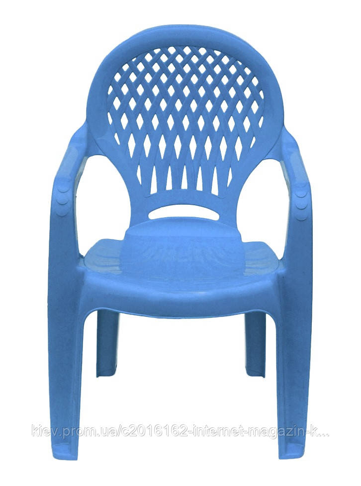 Пластиковый стульчик  детский  ромб  голубой