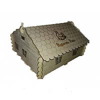 Ясли-брудер Курочка Ряба для цыплят - деревянный домик, фото 1