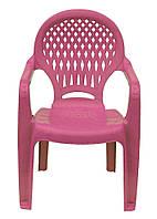 Пластиковый кресло для ребенка ромб розовое