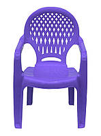 Пластиковое кресло детское ромб фиолетовое