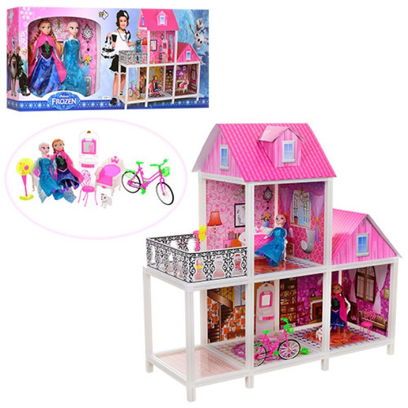 Кукольный домик Frozen( Фроузен) с террасой 66913