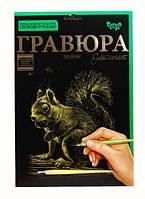 Набор для творчества Гравюра Белочка (ГР-А4-01З) Данко Тойз