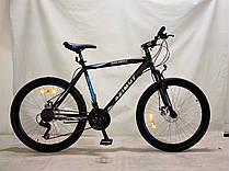"""Двухколесный велосипед Azimut Spark G-FR/D 29"""" Shimano, черно-синий,2019, противоударные обода"""