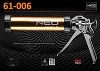Пистолет для силикона 600мл., NEO 61-006