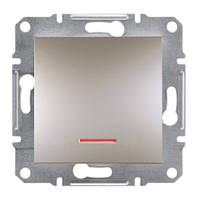 Кнопочный выключатель с подсветкой бронзаAsfora Schneider electric EPH1600169
