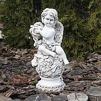 Садовая фигура Ангел с арфой светящийся 34 см