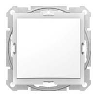 Выключатель одноклавишный IP44, белый, Schneider electric Sedna