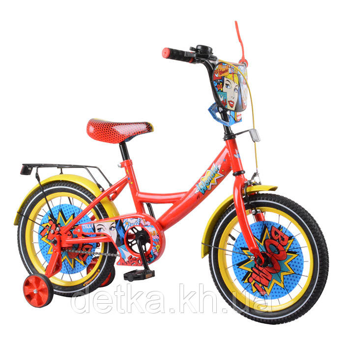 "Велосипед TILLY Wonder 16"" T-216219 red + yellow"