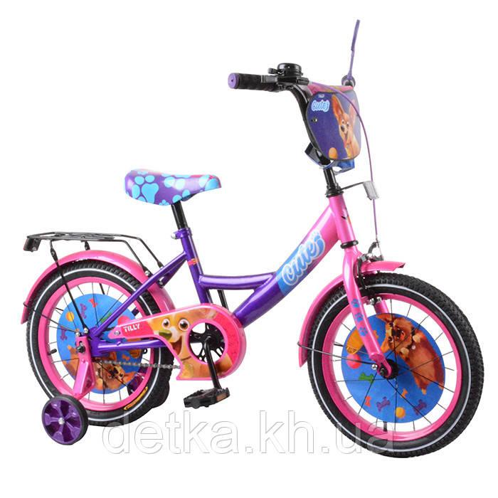 "Велосипед TILLY Cute 16"" T-216217 purple + pink"