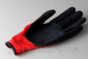 """Перчатки """"Пена"""" красно/черная синтетика"""