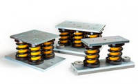 Пружинно-эластомерные виброизоляторы сблокированные  Vibrofix Spring DSD