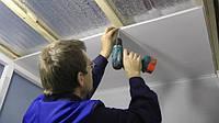 Монтаж ПВХ панелей на стелю