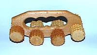 Массажер деревянный с колёсами