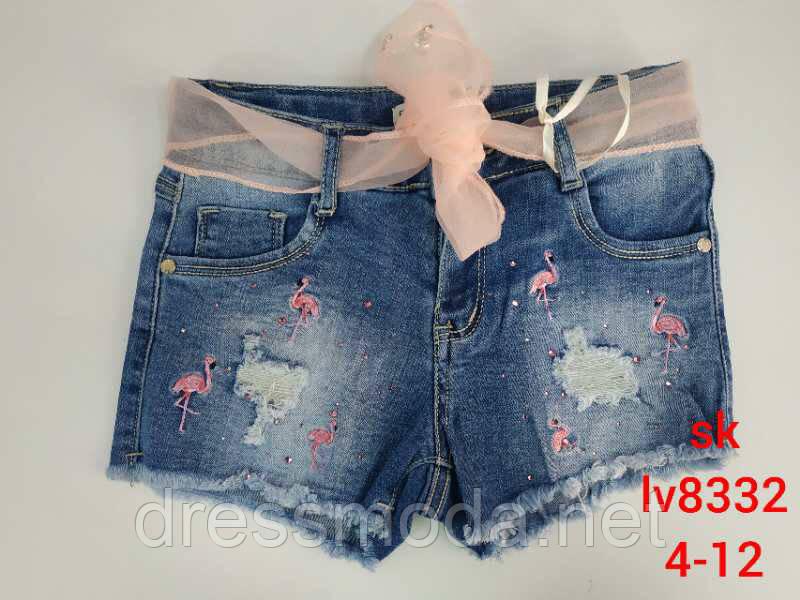 Джинсовые шорты для девочек Setty Koop 4-12 лет