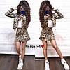 Жіночий костюм: піджак і спідниця з принтом в кольорах. БЛ-11-0419, фото 2