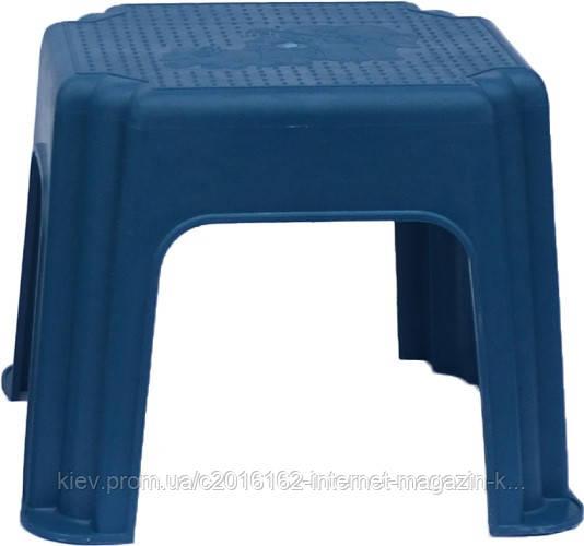Табурет пластиковый для дачи слон голубой