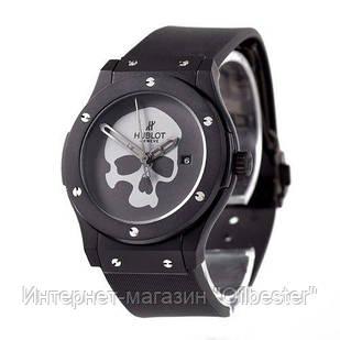 Часы мужские Hublot реплика Skull Bang Mechanic Black/Black - Grey