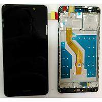 Дисплей (экран) для Huawei Y7 2017 TRT-L21 з сенсором (тачскріном) и рамкой черный, фото 2