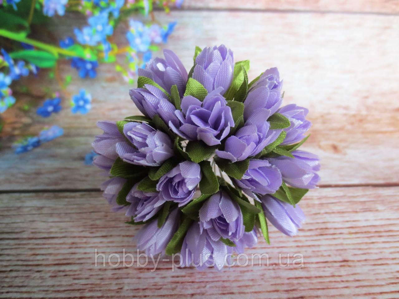 Тюльпан на проволочке, d 1 см, сиреневого цвета, 1 шт