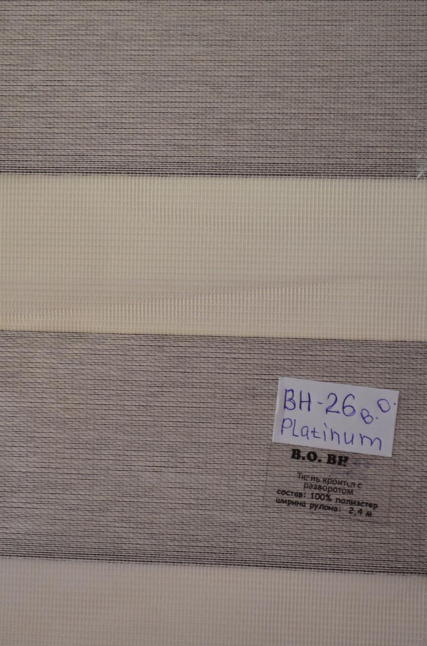 Рулонные шторы блэкаут день-ночь платинум BH-26