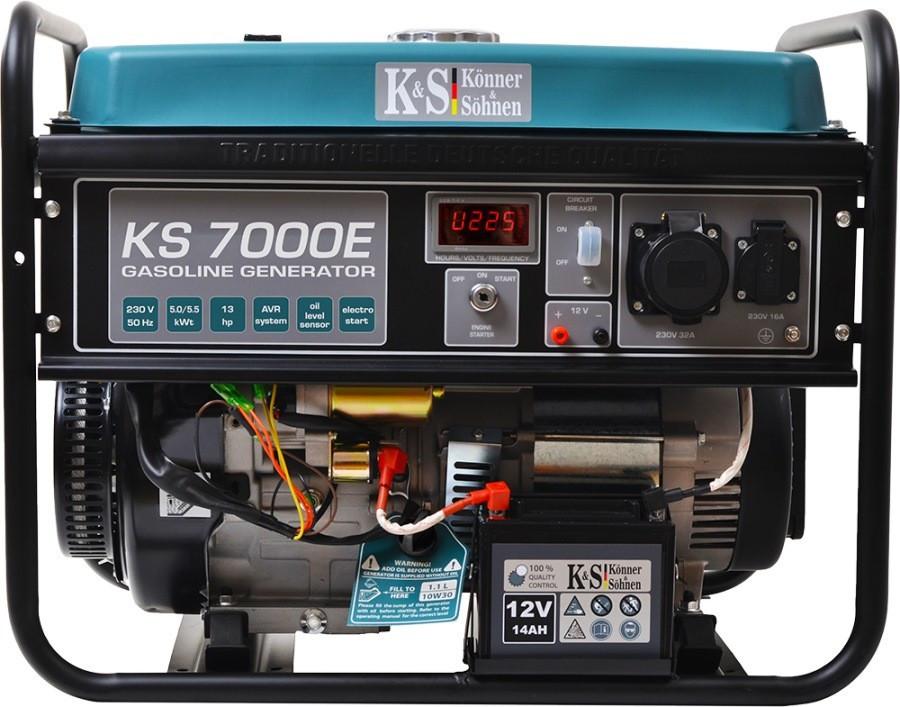 Генератор бензиновый Konner&Sohnen KS 7000E 5.5кВт однофазный Германия