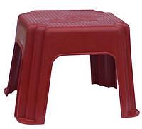 Табурет для кафе слон красный пластиковый