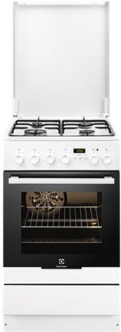 Газовая плита Electrolux  EKK 54553 OW (50 см,электрическая духовка,белый)