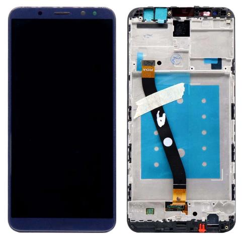 Дисплей (экран) для Huawei Mate 10 Lite RNE-L01 с сенсором (тачскрином) и рамкой синий