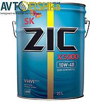 Напівсинтетичне моторне масло ZIC 5000 10W-40 20л