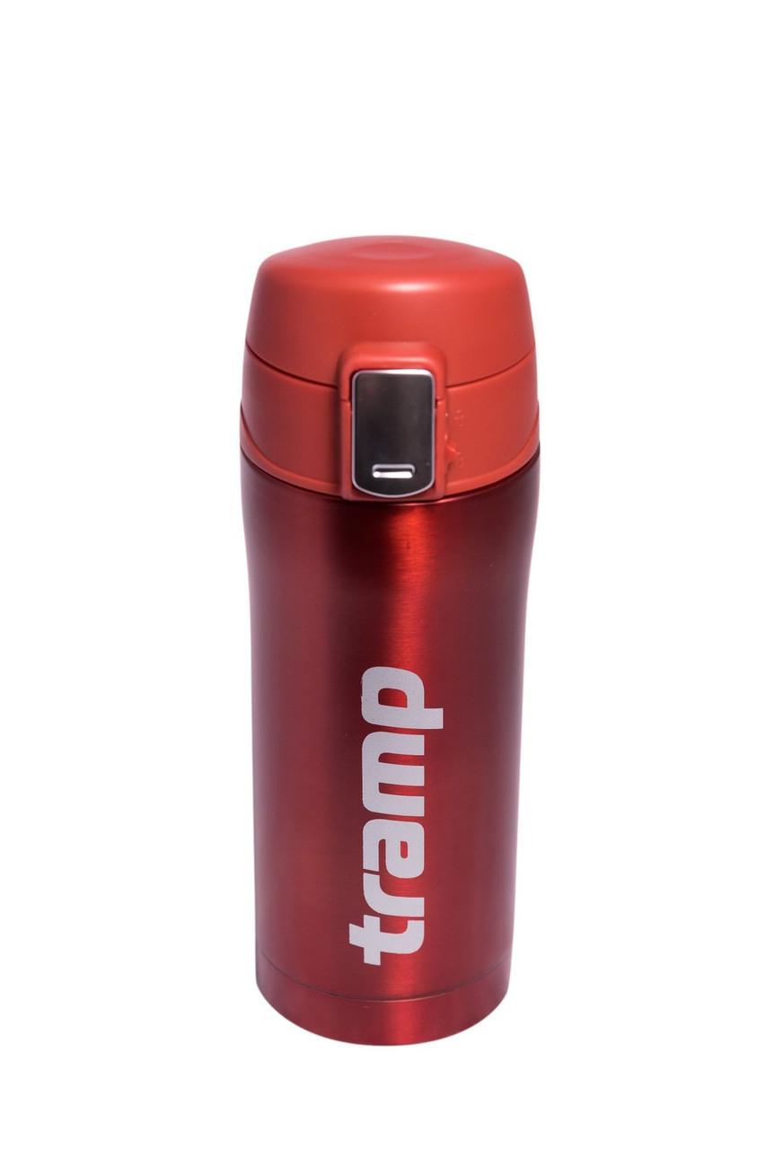 Термос Tramp 0,35 л червоний металік TRC-106-red. Термос трамп. Термос на кнопці