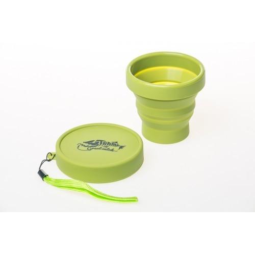 Стакан складаний силіконовий Tramp з кришкою 180ml olive. Стакан силиконовый