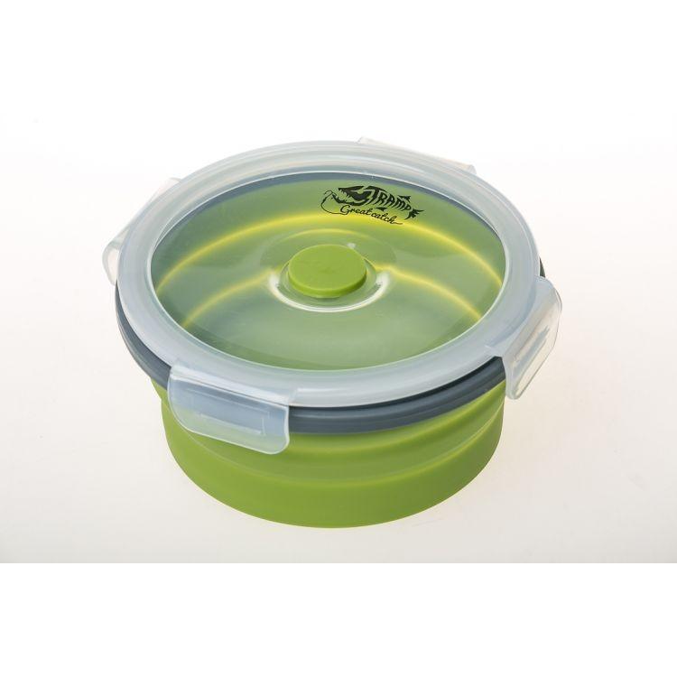 Контейнер складной с крышкой-защелкой Tramp (550ml) olive