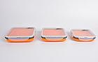 Набір з 3х силіконових контейнерів Tramp (400/700 / 1000ml) orange, фото 4