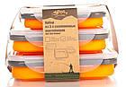 Набір з 3х силіконових контейнерів Tramp (400/700 / 1000ml) orange, фото 7
