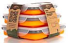 Набір з 3х силіконових контейнерів Tramp (400/700 / 1000ml) orange, фото 8
