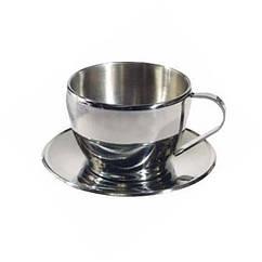 Чашка с блюдцем Tramp. Термокружка