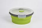 Контейнер складаний з кришкою-засувкою Tramp (800ml) olive, фото 2