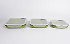 Набір з 3х силіконових контейнерів Tramp (400/700 / 1000ml) olive, фото 3