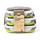 Набір з 3х силіконових контейнерів Tramp (400/700 / 1000ml) olive, фото 8