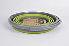 Ведро складное силиконовое Tramp 10L olive. ведро туристическое, фото 3