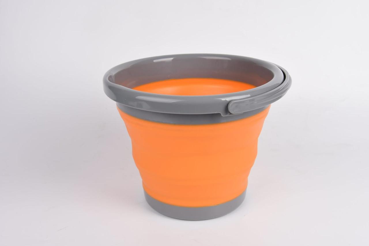 Відро складне силіконове Tramp 5L orange. Ведро складное туристическое