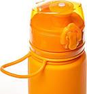 Бутылка Tramp силиконовая 500мл. Фляга спортивная. Сложная силиконовая бутылка с карабином, фото 4