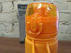Бутылка Tramp силиконовая 500мл. Фляга спортивная. Сложная силиконовая бутылка с карабином, фото 7