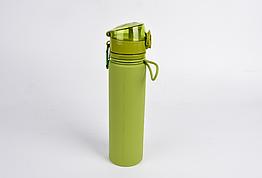 Пляшка силіконова Tramp 700ml olive. Фляга туристическая