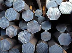 Шестигранник стальной калиброванный № 8 мм ст. 20, 35, 45, 40Х длина от 3 до 6 м