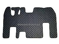 Автомобильные ковры из экокожи Renault Magnum серого цвета цельный